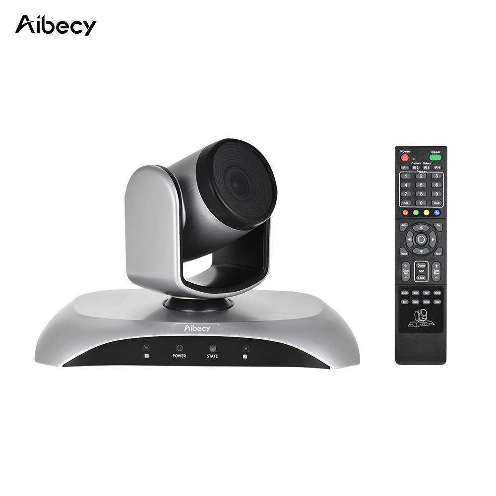 Aibecy 1080P HD USB Video Conference Camera Auto Focus 3X Optical Zoom Auto Scan Plug-N-Play with IR Remote Control – intl