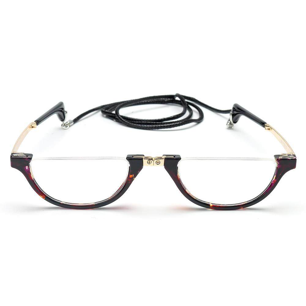 ae9cffd1077 HJC 300 Degreee Mens Womens Hanging Neck Reading Glasses Folding Presbyopic  Glasses Fashion Designer Reading Glasses