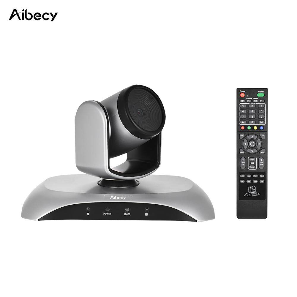 Aibecy 1080P FHD USB Video Conference Camera Auto Focus 360� Auto Scan Plug-N-Play with Infrared Remote Control – intl