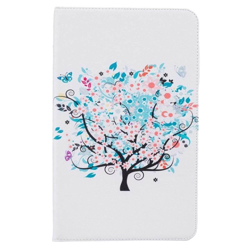 Gdtl Kualitas Tinggi Fashion Buku Lukis Case Cover untuk Samsung Galaxy Tab T580 10.1 Cover Case S (Kupu-kupu dan Pohon)