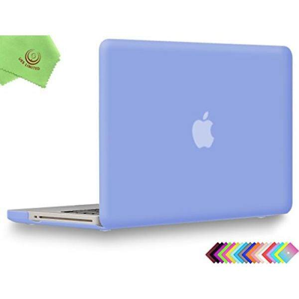 UESWILL Smooth Soft-Touch Matte Hard Shell Case Cover for MacBook Pro 13 with CD-ROM + Microfibre Cleaning Cloth, Serenity Blue...