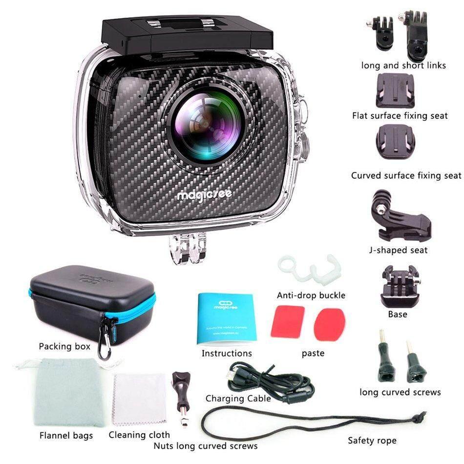 RUN2 Magicsee P3 360 Panoramic Camera Dual Lens Waterproof Case Pro 16MP VR Camera
