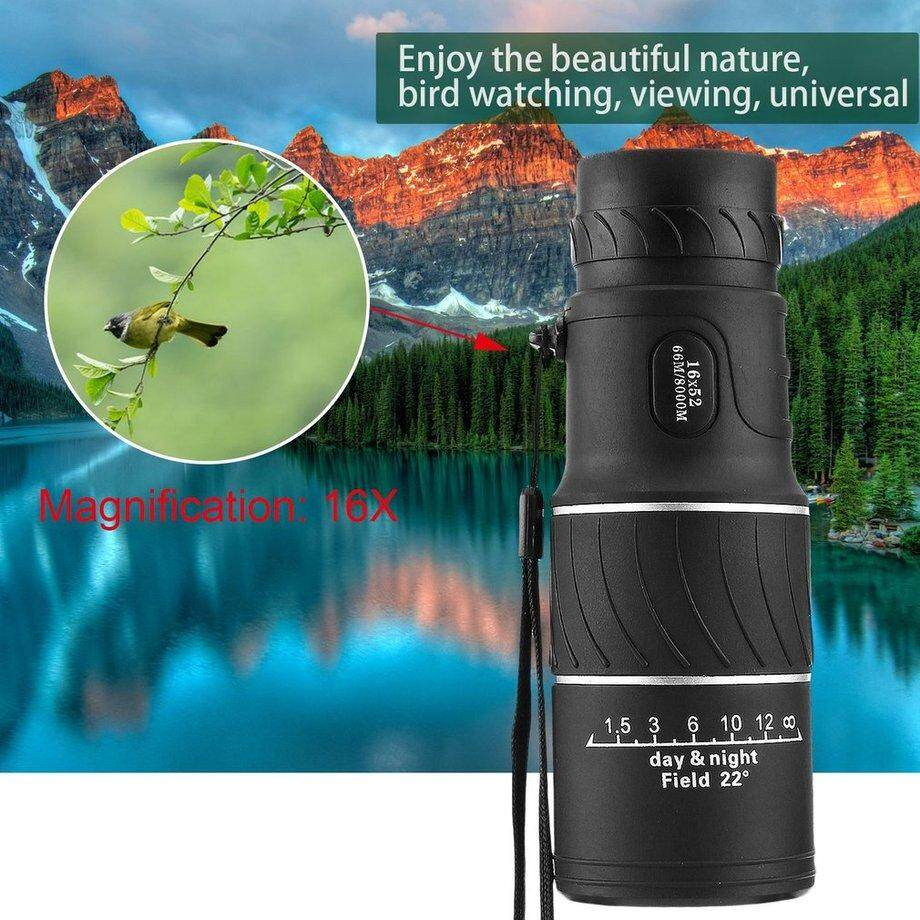 ERA 16×52 Dual Focus Optical Monocular Night & Day Vision HD Monocular Telescope