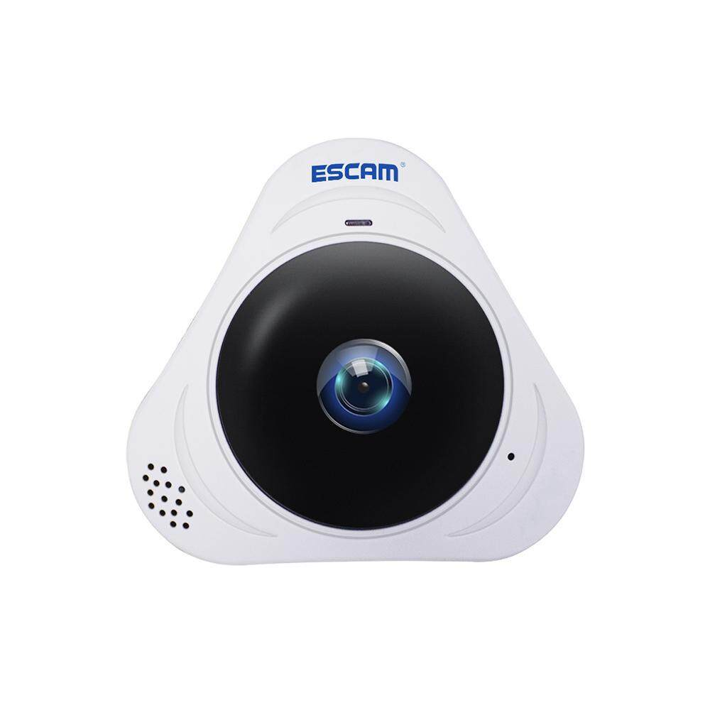 roortour US PLUG ESCAM Q8 360° Rotating Home Security IP Camera Webcam Fisheye HD 960P Internet IR Night Vision Wifi Office Monitor – intl