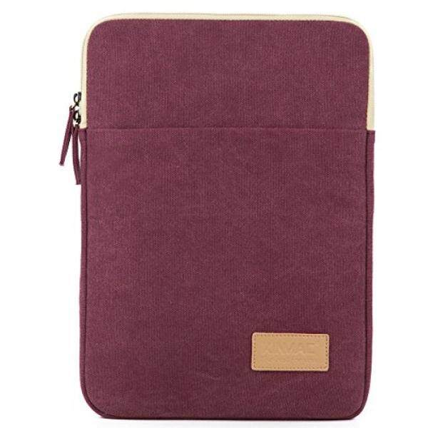 Kinmac Wine Red Canvas Vertical Style Water Resistant Laptop Sleeve with Pocket 13 Inch for 13.3 inch laptop and Macbook Air Pro 13 – intl