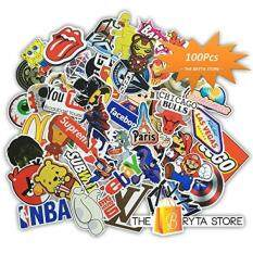 100 PREMIUM Stickers Decals Vinyls Pack of The Best Selling Cool Sticker Perfect To Graffiti Your Laptop, Macbook, Skateboard, Luggage, Car, Bumper, Bike, Hard Hat The Bryta Store – intl