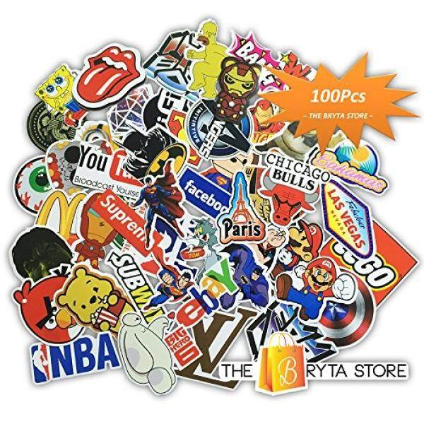 100 PREMIUM Stickers Decals Vinyls Pack of The Best Selling Cool Sticker Perfect To Graffiti Your Laptop, Macbook, Skateboard, Luggage,...