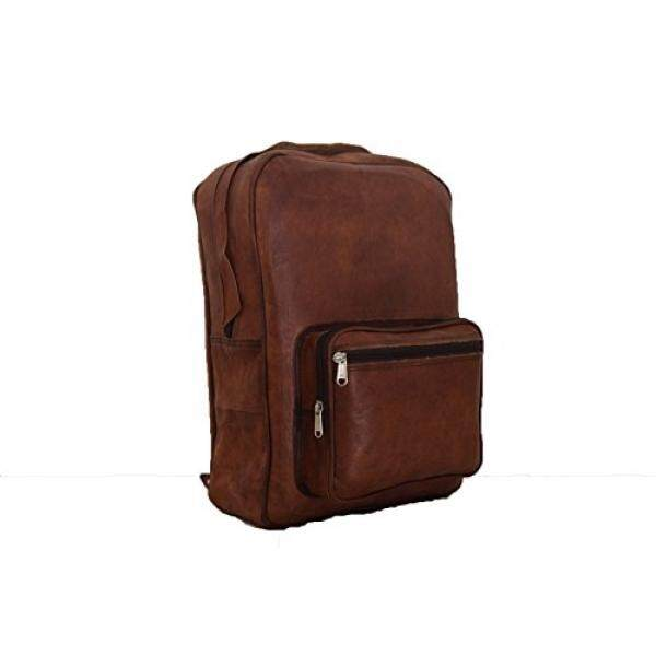Leather Backpack 15 Inch MacBook / Laptop Rucksack Shoulder Bag College School Bag – intl