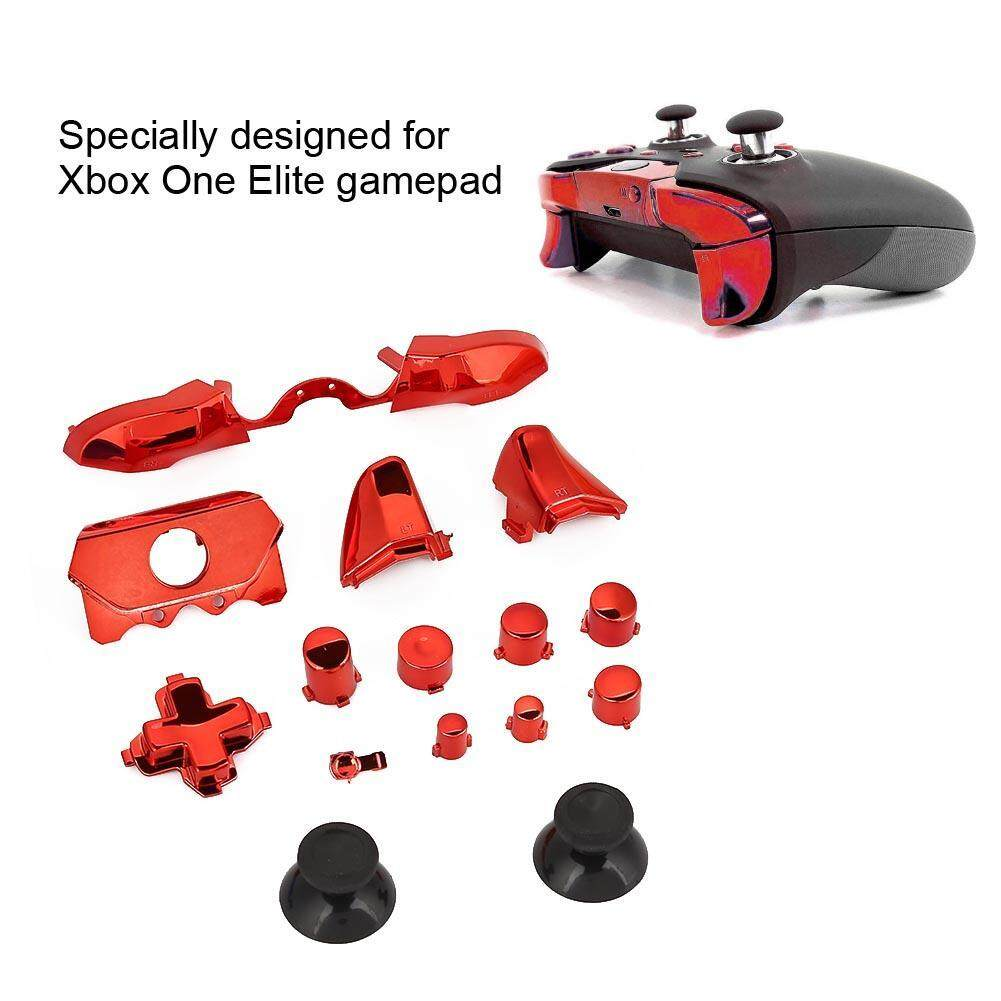 Trigger/Bumper Buttons Kit Replacement Custom for Xbox One Elite with Screwdriver (Red) – intl