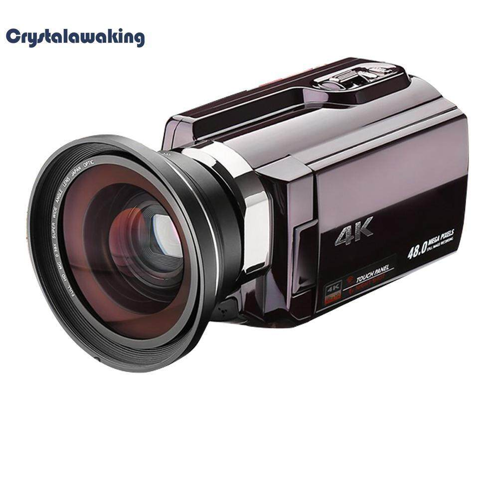 4K 30FPS Wifi Digital IR Night Vision Camcorder with Wide Angle Macro Lens