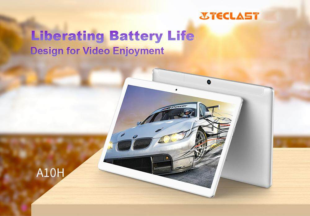 Teclast A10H Tablet PC 10.1 inch Android 7.0 MTK8163 Quad Core 1.3GHz 2GB RAM 16GB ROM 2.0MP + 0.3MP Double...