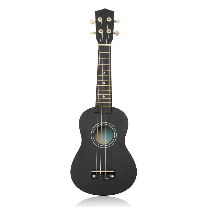21 inch 12 Fret Black Acoustic Maple wood Ukulele Musical Instrument 54x17x5.5cm Ukulele Four-string Small Guitar Malaysia