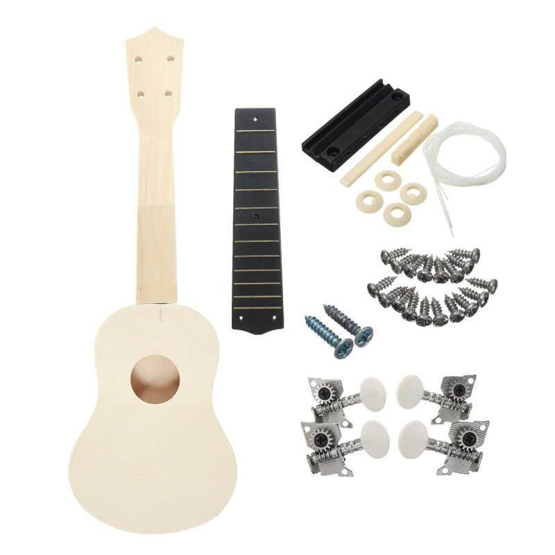 21 Ukulele Soprano Hawaiian Guitar Uke Kit White Wooden Musical Instrument DIY Malaysia