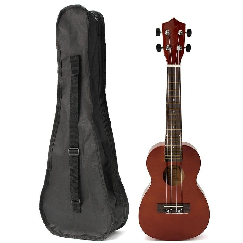 23 Basswood Stringed Instrument Ukulele 4 Strings Acoustic Electric Bass Guitarra Guitar with Bag Case For Kids Beginner Coffee Malaysia