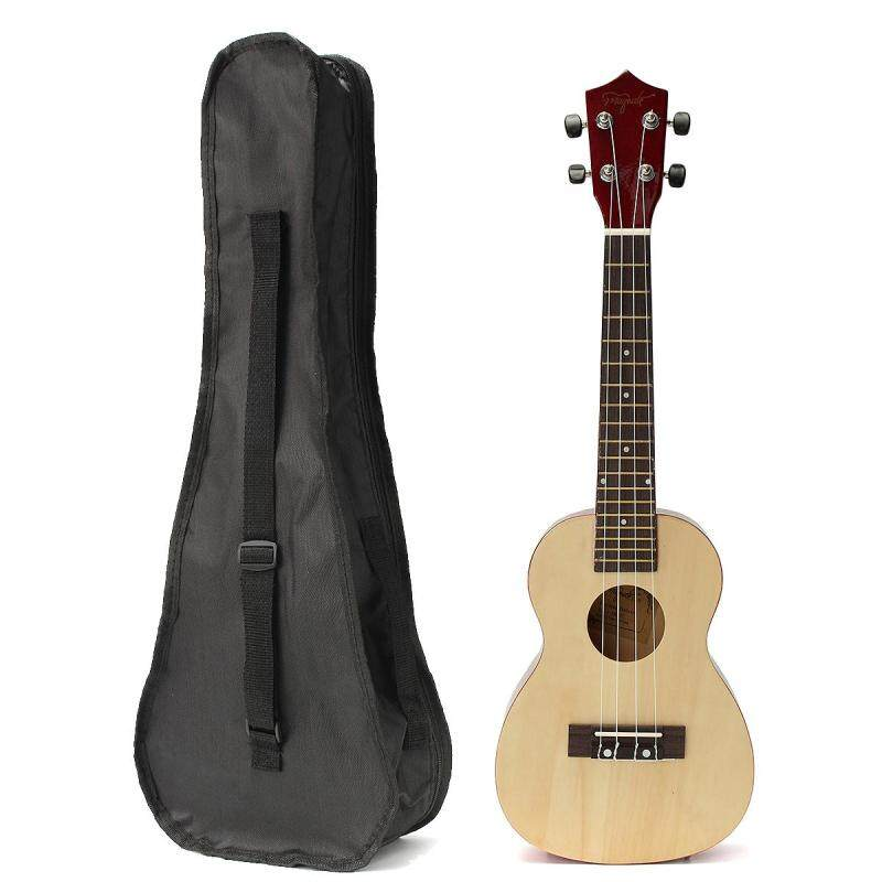 23 Basswood Stringed Instrument Ukulele 4 Strings Acoustic Electric Bass Guitarra Guitar with Bag Case For Kids Beginner Yellow & Brown Malaysia