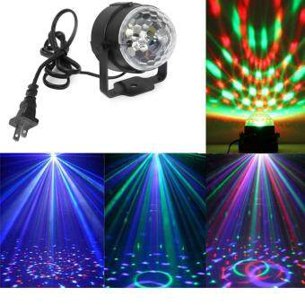 3W Mini RGB LED Crystal Magic Ball Karaoke Stage Lighting EffectLamp Bulb Party Disco Club DJ Light for Xmas Party Wedding Show (USPlug)