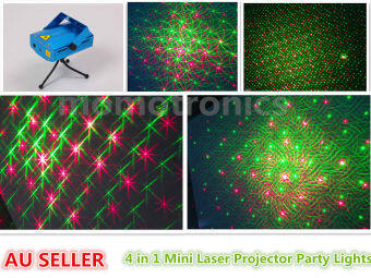 4 in 1 Mini Stage Light Laser Projector Club Dj Disco Bar StageLight, Voice-activated Version M04