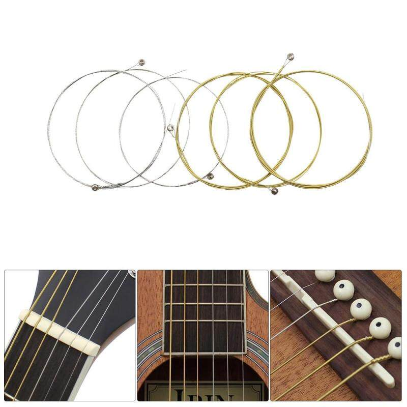 Acoustic Folk Guitar Strings Replacement Full Set 6pcs(.009-.045) Steel Core Copper Alloy Wound with End Ball Medium Tension Malaysia