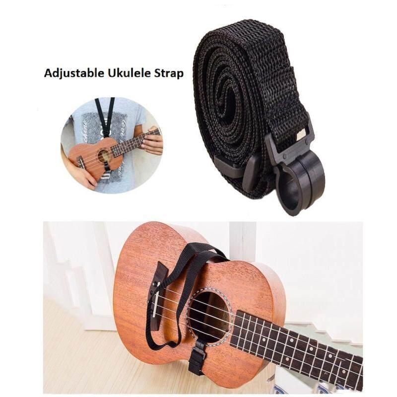 Adjustable Ukulele Strap Sling Belt Clip Hook (Black) Malaysia