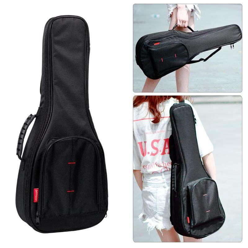 ammoon 23 Concert Ukelele Ukulele Uke Bag Backpack Case 10mm Cotton Padding with Adjustable Shoulder Strap Carry Handle Black Malaysia