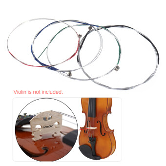 ammoon Full Set High Quality Violin Strings Size 4/4 & 3/4Violin Strings Steel Strings G D A and E Strings