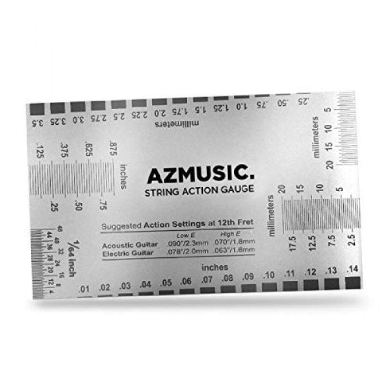 AZMUSIC String Action Ruler Gauge Tool for Accurate Measurement of Acoustic, Electric, and Bass Guitar Setup Malaysia