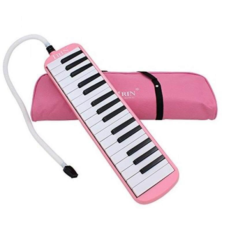 Baisidai 32 Key Piano Style Melodica With Box Organ Accordion Mouth Piece Blow Key Board (Pink) Malaysia
