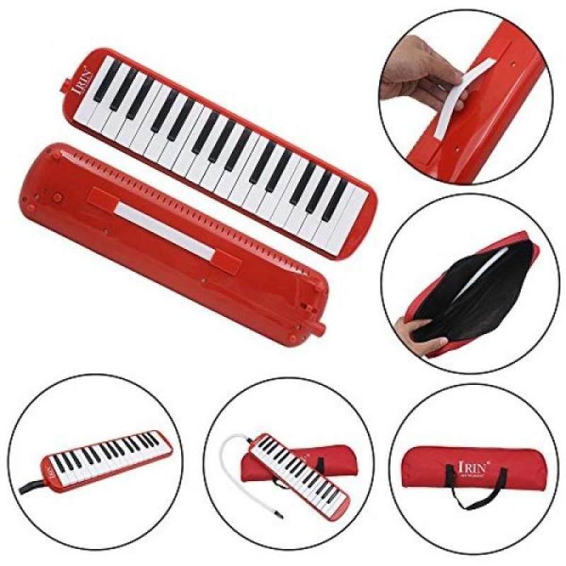 Baisidai 32 Key Piano Style Melodica With Box Organ Accordion Mouth Piece Blow Key Board (Red) Malaysia