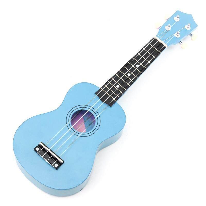 Blue 21 Inch Acoustic Soprano 4 String Mini Basswood Ukulele Musical Instrument Toy Learning Educational Music Toys For KIDS Malaysia