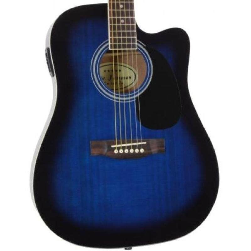 Blue Full Size Thinline Acoustic Electric Guitar with Free Gig Bag Case & Picks Malaysia