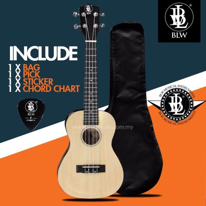 BLW 24 Inch 4 Nylon Strings Concert Ukulele Hawaii Guitar FREE Bag, Chord Chart, Pick & Sticker (Beige) Malaysia