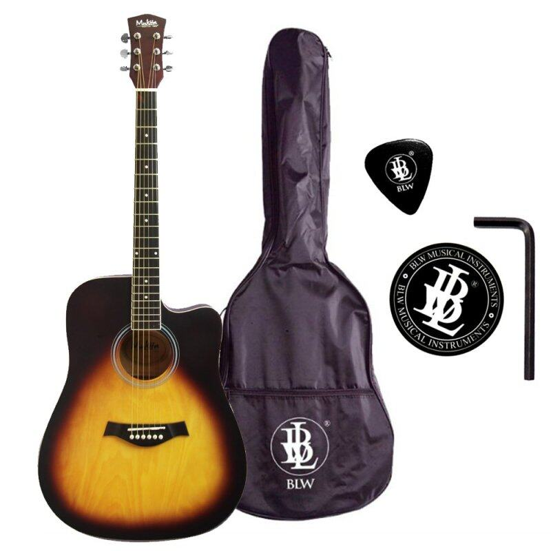 BLW 41 Inch Acoustic Guitar for Beginners Dreadnaught Model SD410 Package 1 (Sunburst) Malaysia
