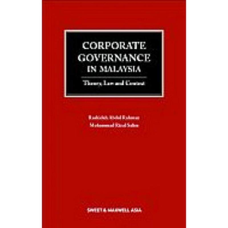 Corporate Governance in Malaysia: Theory, Law, and Context - ISBN : 9789675040313 Malaysia