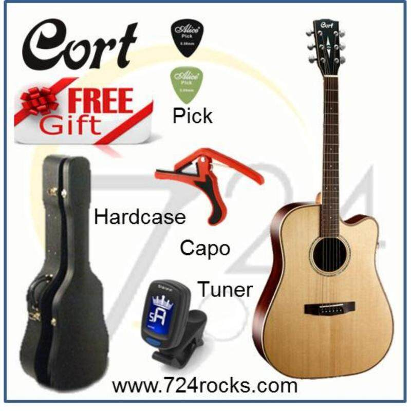 Cort AS-M5 Full Solid Premium Acoustic Guitar With Pickup Free Hardcase, Capoo, Tuner & Picks Malaysia