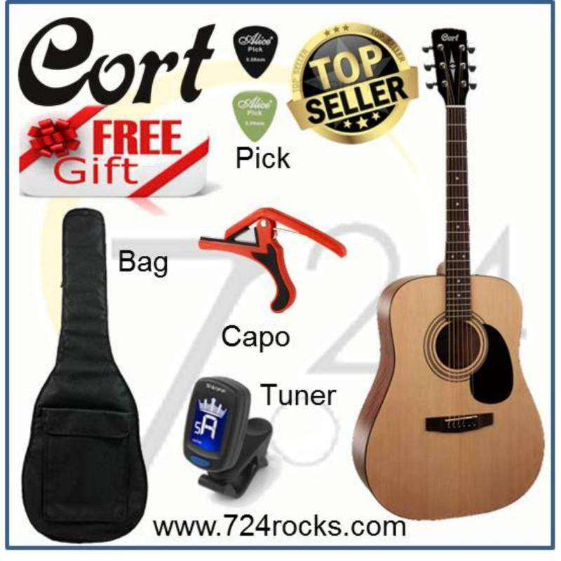 Cort Korea AD810 Acoustic Guitar free Bag, Tuner, Capo and picks Malaysia