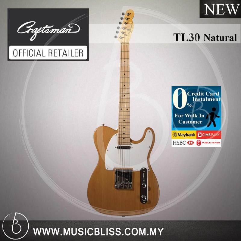 Craftsman TL30 Electric Guitar Natural with 0% Instalment (TL-30) Malaysia