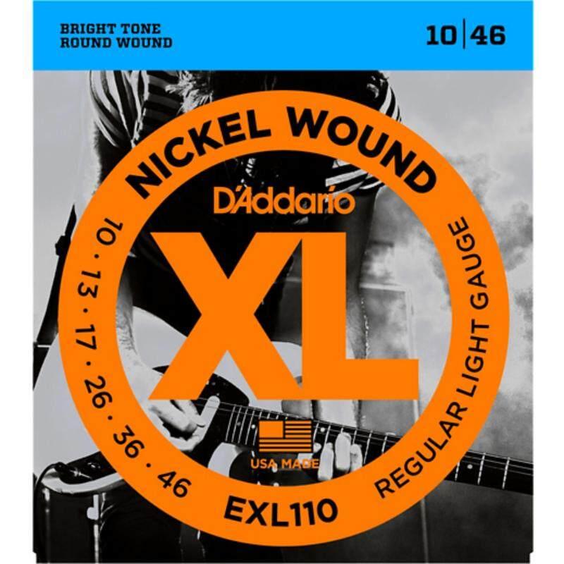 DAddario EXL110 10-46 Nickel Wound Light Electric Guitar Strings Single-Pack Malaysia
