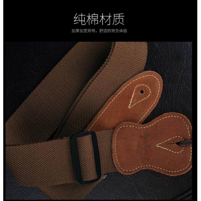 DeeWhy Adjustable Music Strap with Leather Ends Belt for ACOUSTIC OR ELECTRIC GUITAR Black Malaysia