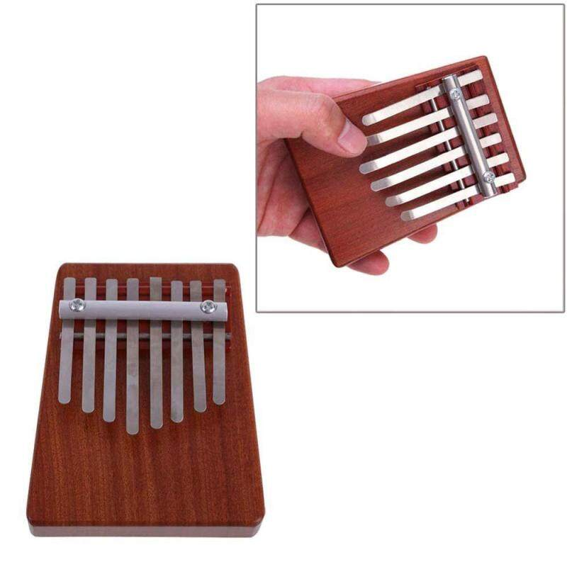 dewsty 8 Key Finger Piano Kalimba Mbira Likembe Sanza Thumb Piano (Red) Malaysia
