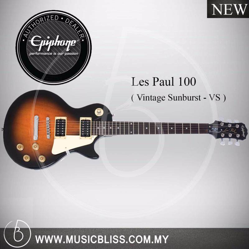 Epiphone Les Paul 100 Electric Guitar (Vintage Sunburst) Malaysia