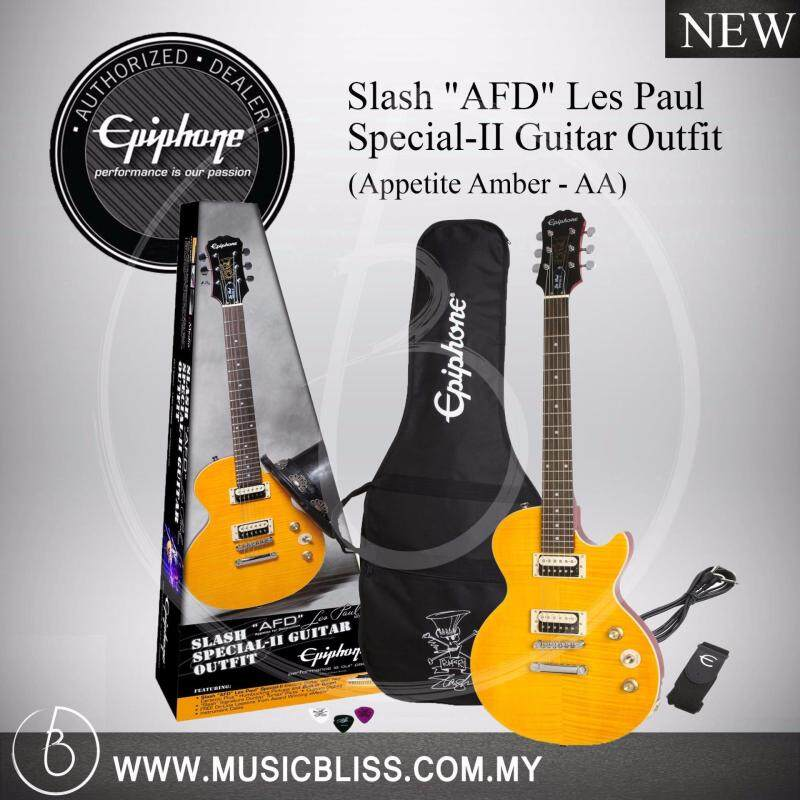 Epiphone Slash AFD Les Paul Special-II Guitar Outfit (Appetite Amber) Malaysia