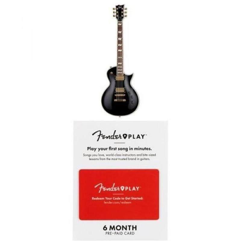 ESP LTD EC-256 Electric Guitar, Black with onths of Fender Play Malaysia