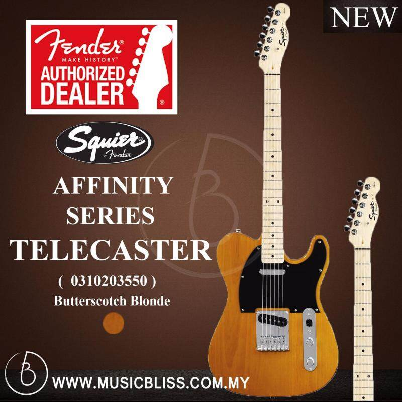 Fender Squier Affinity Series Telecaster, Maple Fingerboard Electric Guitar (Butterscotch Blonde) Malaysia