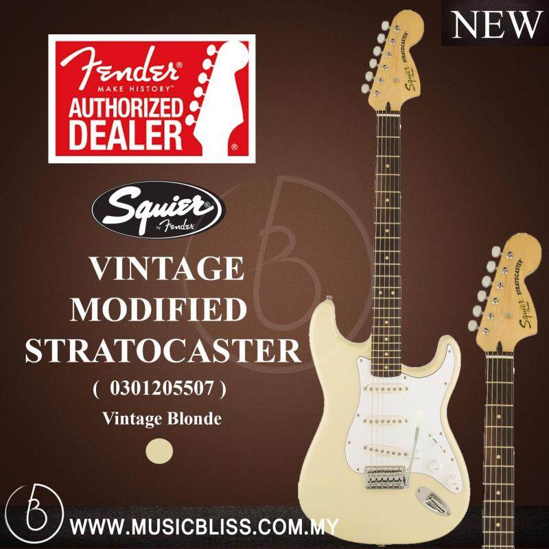 Fender Squier Vintage Modified Stratocaster®, Rosewood Fingerboard Electric Guitar (Vintage Blonde) Malaysia