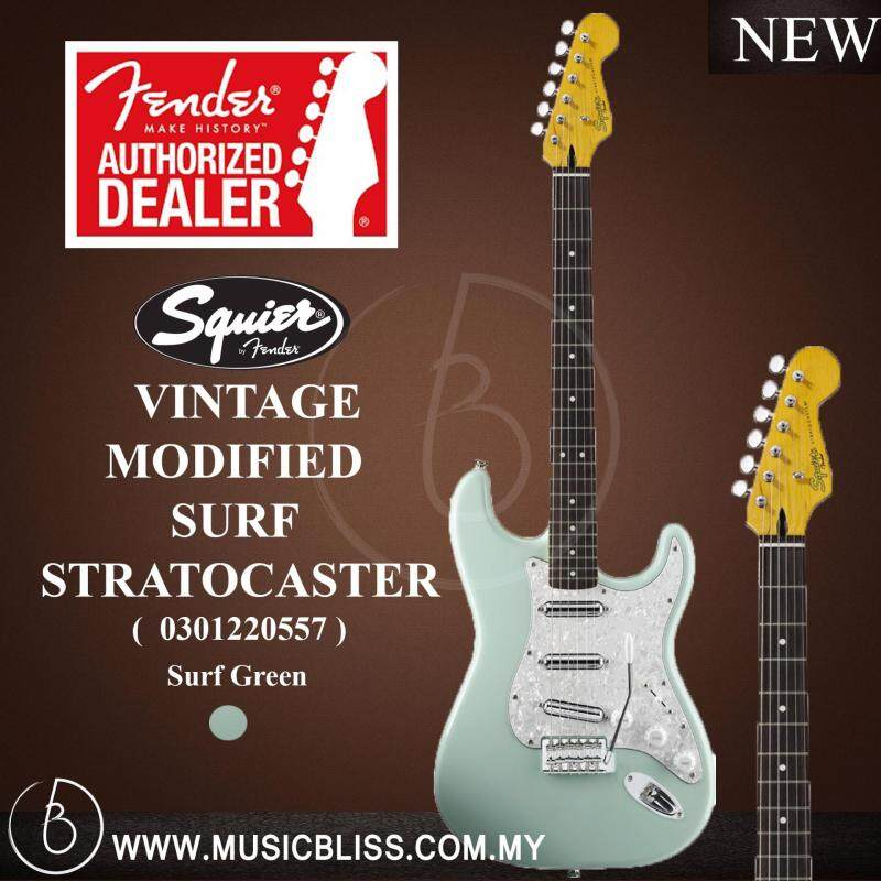 Fender Squier Vintage Modified Surf Stratocaster Electric Guitar (Surf Green) Malaysia