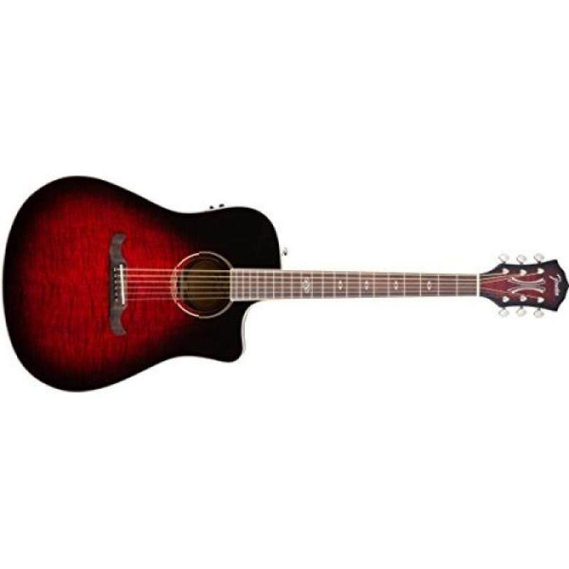 Fender T-Bucket 300 Acoustic Electric Guitar with Cutaway, Rosewood Fingerboard - Trans Cherry Burst Malaysia