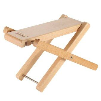 Harga Foldable Wood Guitar Pedal Guitar Foot Rest Stool 3 AdjustableHeight Levels Beech Wood Material