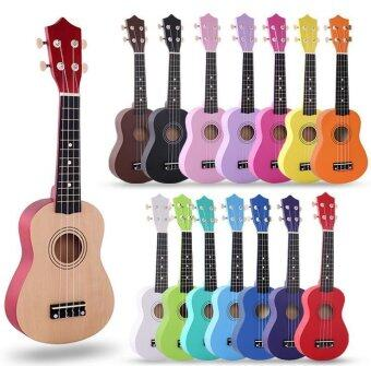 (Free Bag+Spare String+Triangular Plectrum) 21 Inch 12 Colors Soprano Ukulele Basswood Acoustic Nylon 4 Strings Ukulele Colorful Mini Guitar Musical Instrument