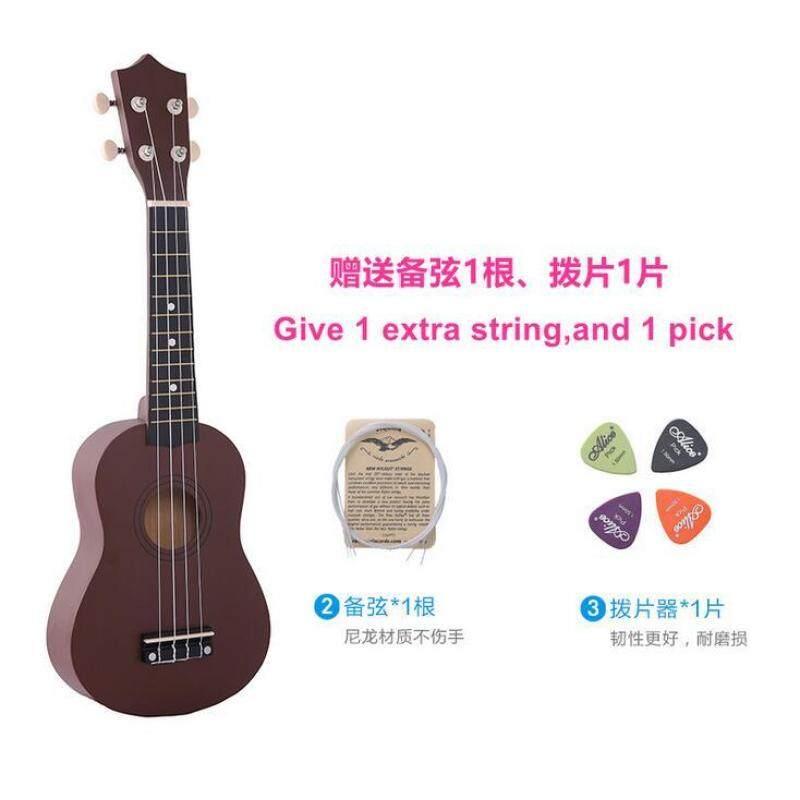 (Free Bag+Spare String+Triangular Plectrum) 21 Inch 12 Colors Soprano Ukulele Basswood Acoustic Nylon 4 Strings Ukulele Colorful Mini Guitar Musical Instrument Malaysia
