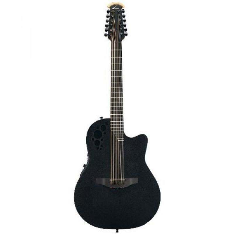 From USA Ovation Elite T 2058TX 12-string Acoustic-electric Guitar, Black Malaysia